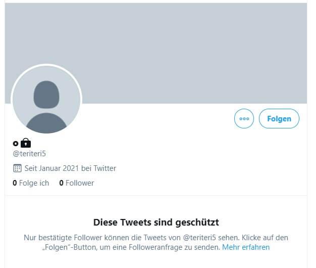 Twitter auf privat