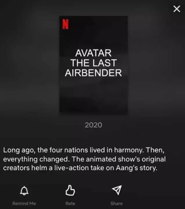 Netflix Eintrag