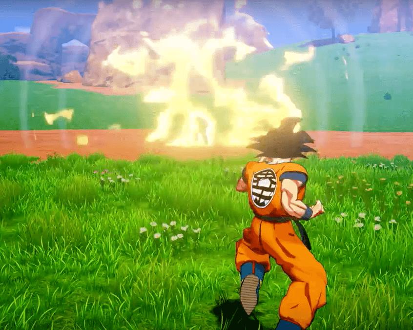 Son Goku kämpft gegen Nappa