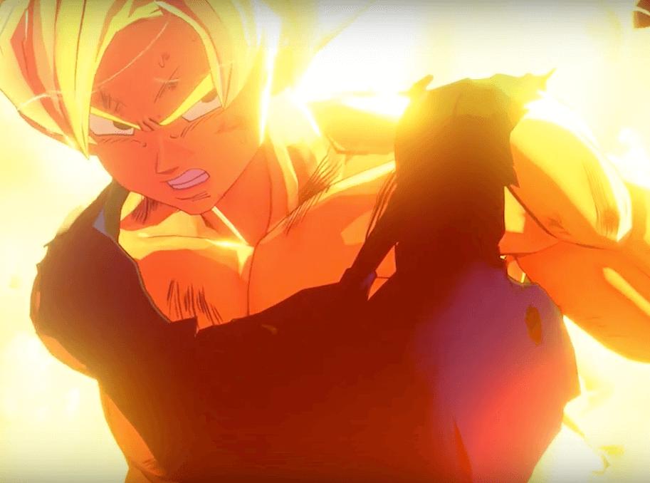 Son Goku verwandelt sich in einen SSJ