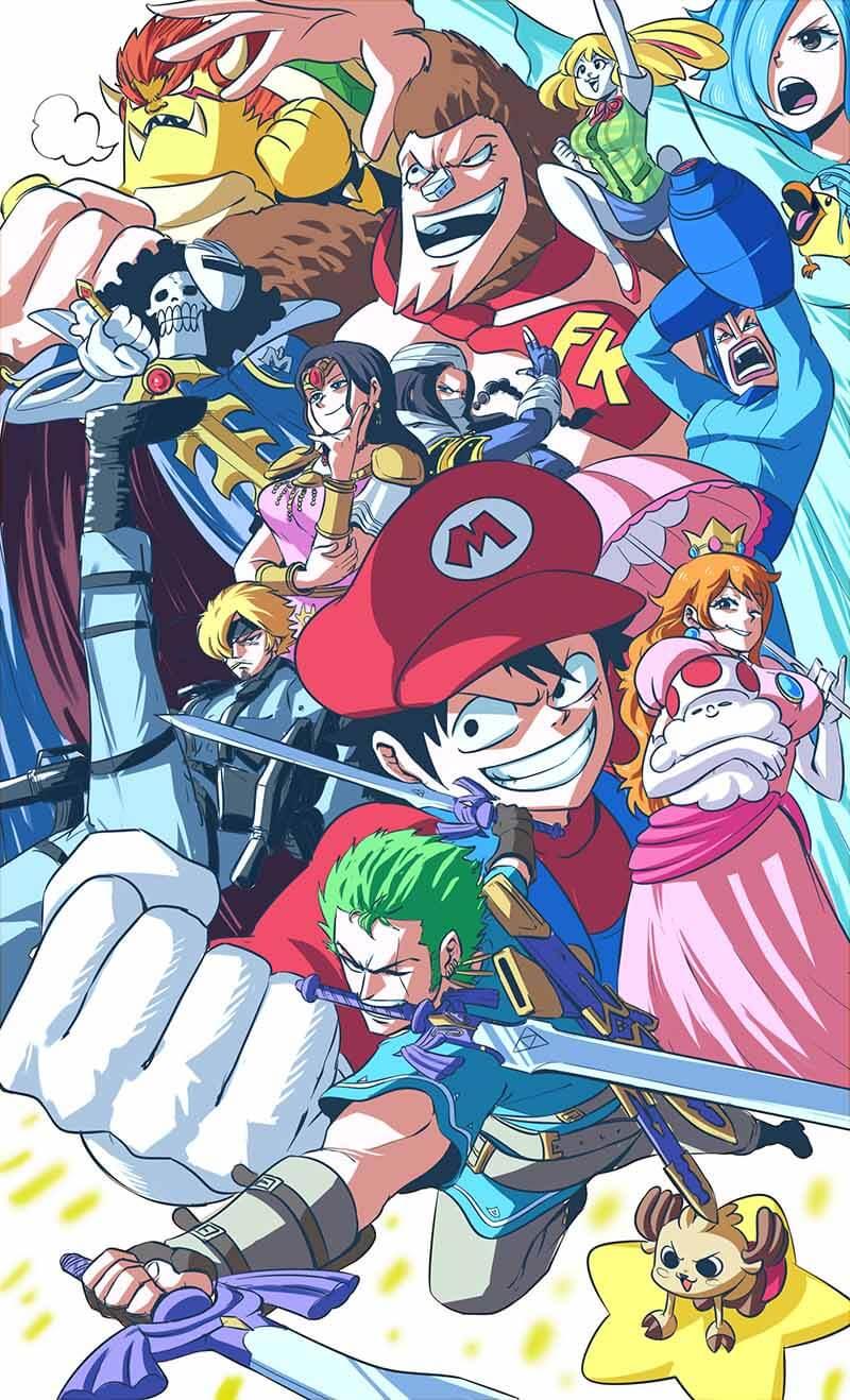 Die One Piece Charaktere als Nintendo-Charaktere - gezeichnet von ProfessorGemini