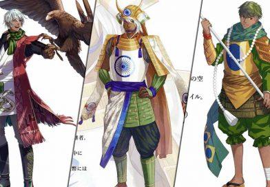 Für die Tokyo Olympics 2020 – Die Länder als Anime-Samurai illustriert