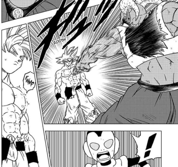 Son Goku zeigt seine neue Ultra Instinkt Fähigkeit