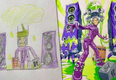 Künstler macht aus den Zeichnungen seiner Kinder erstaunliche Anime-Charaktere!